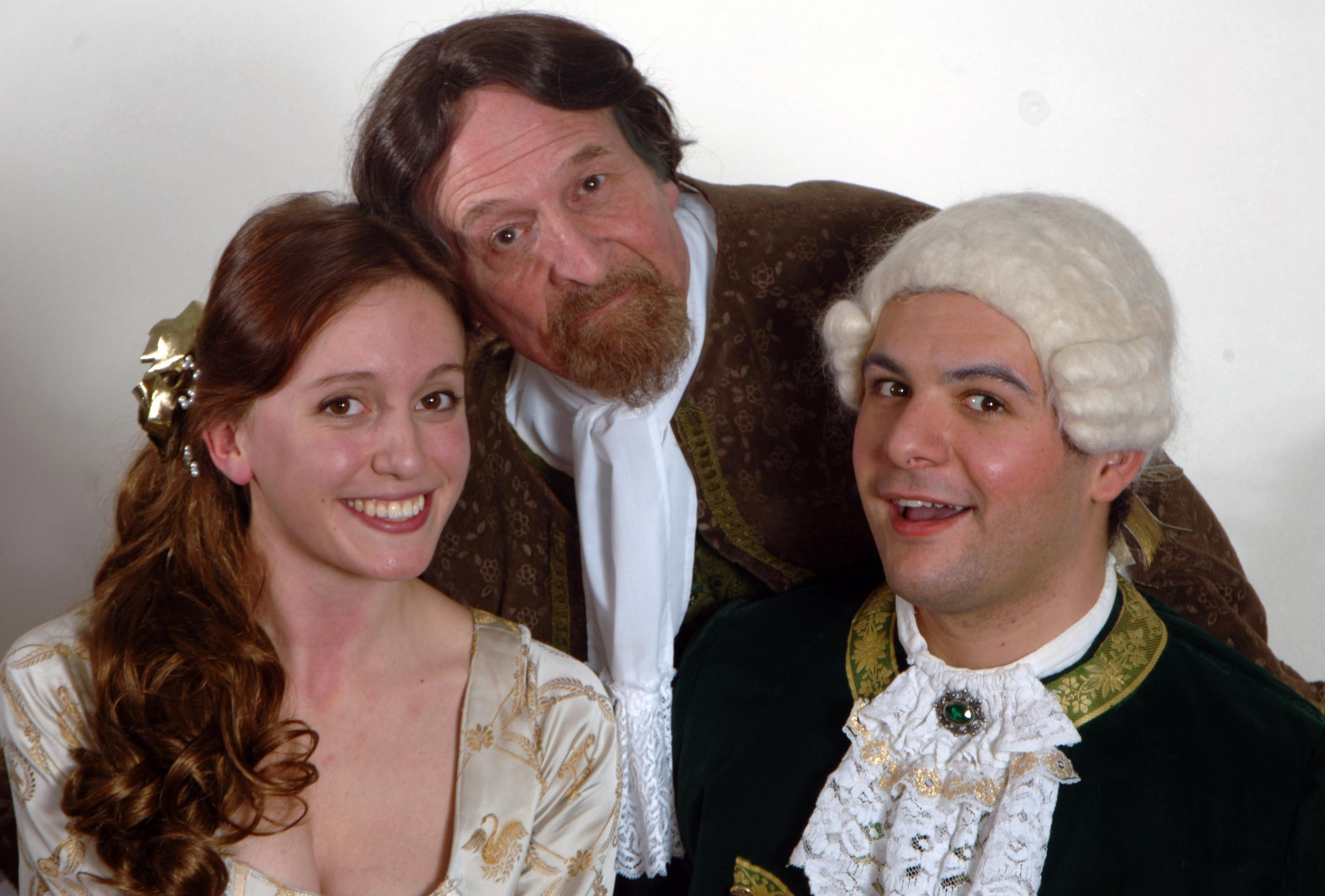 Emma Graveling, Jeff Baynham and Joshua Ford in Amadeus