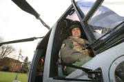 A Royal Navy Lynx Helicopter from Royal Naval Air Station in Yeovilton made an appearance at Borlase on Wednesday