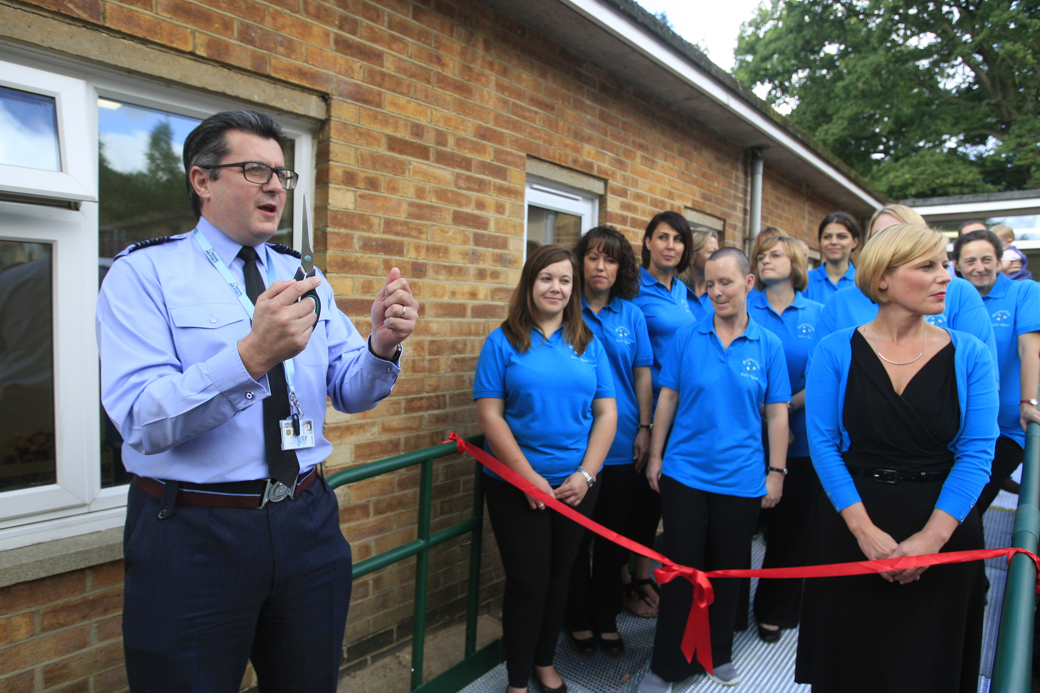 RAF Station Commander helps childcare centre celebrate
