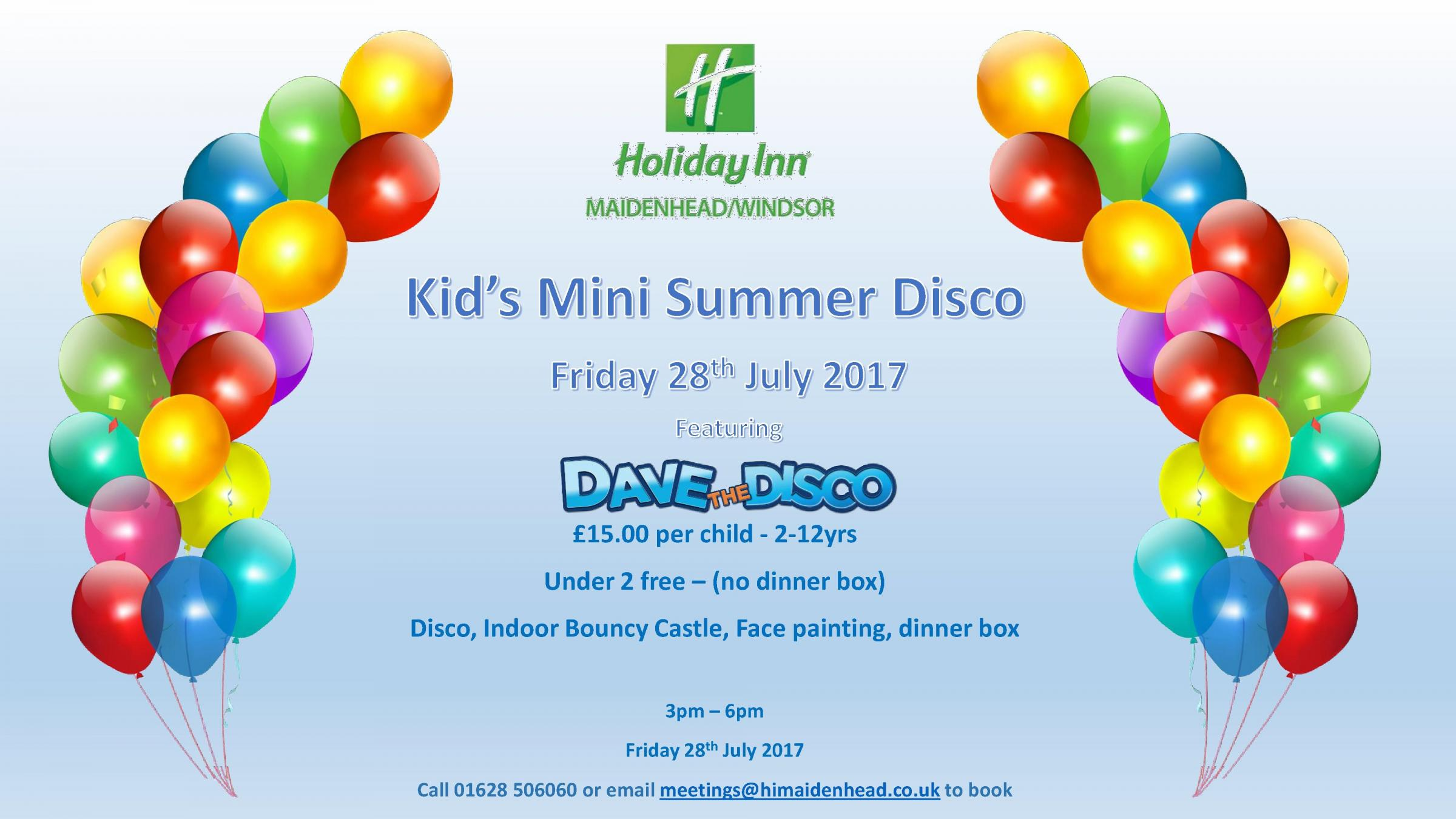 Kids Mini Summer Disco