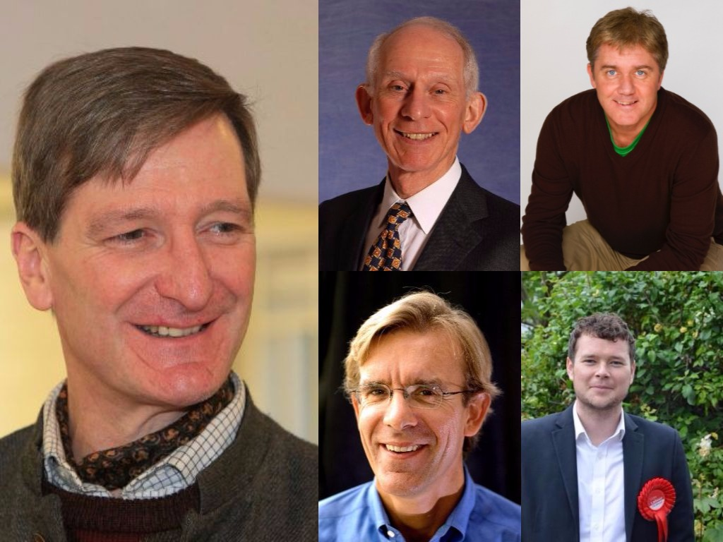 Dominic Grieve (left), Peter Chapman (top left), Jon Conway (top right). Russell Secker (bottom left) and James English (bottom right)
