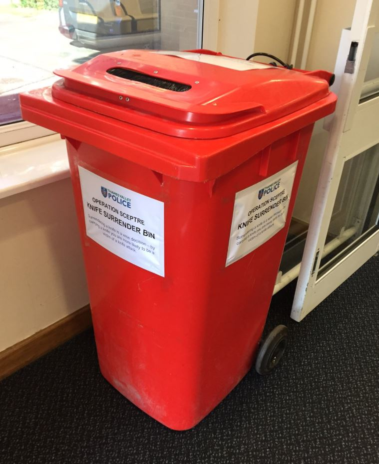 Knife surrender bins placed in police stations in bid to tackle crime
