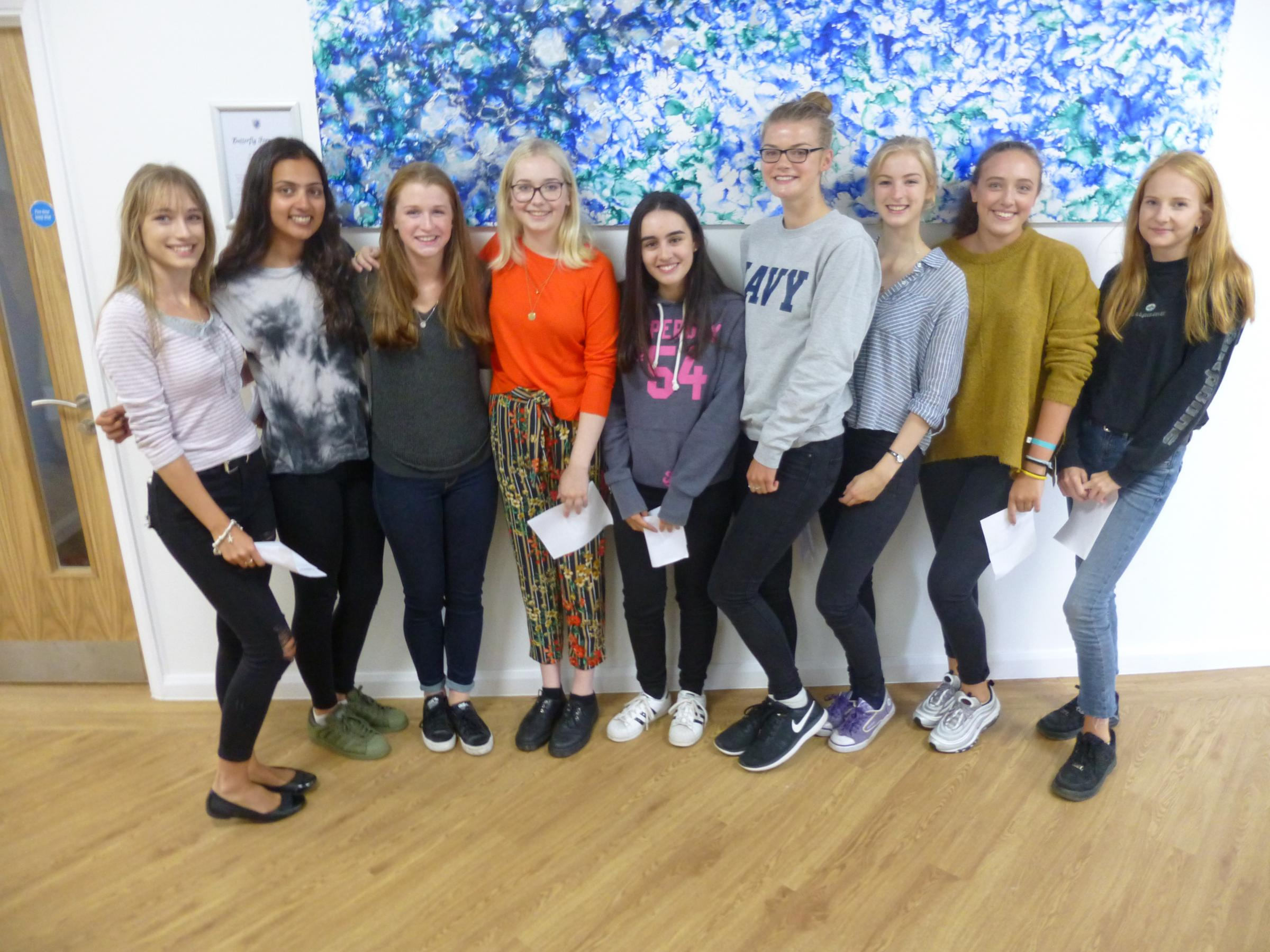 Some of Beaconsfield High's top students celebrate their results