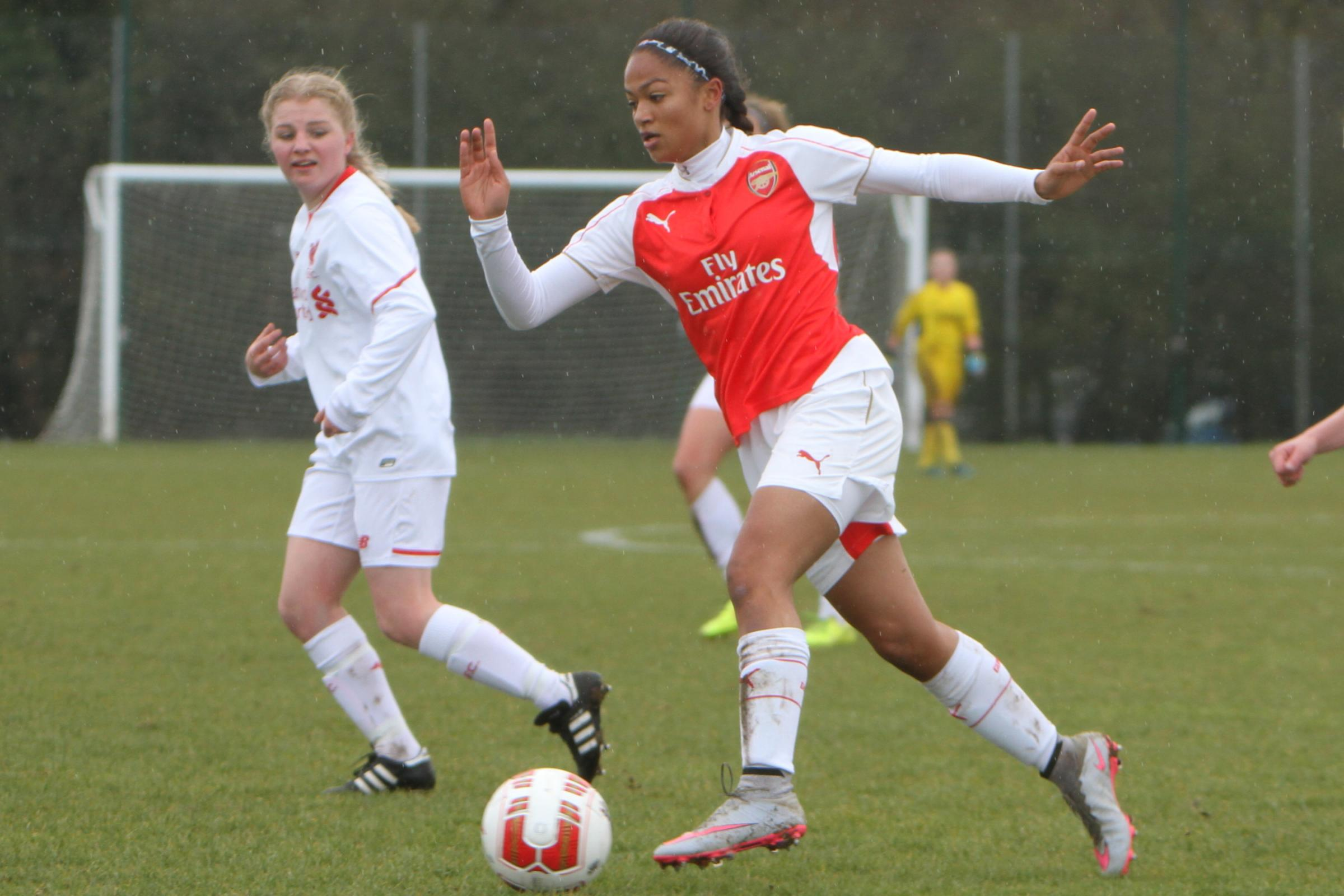 Hinds is looking to make the breakthrough with Arsenal