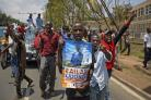 Opposition supporters protest against the upcoming elections in Kenya (Ben Curtis/AP)