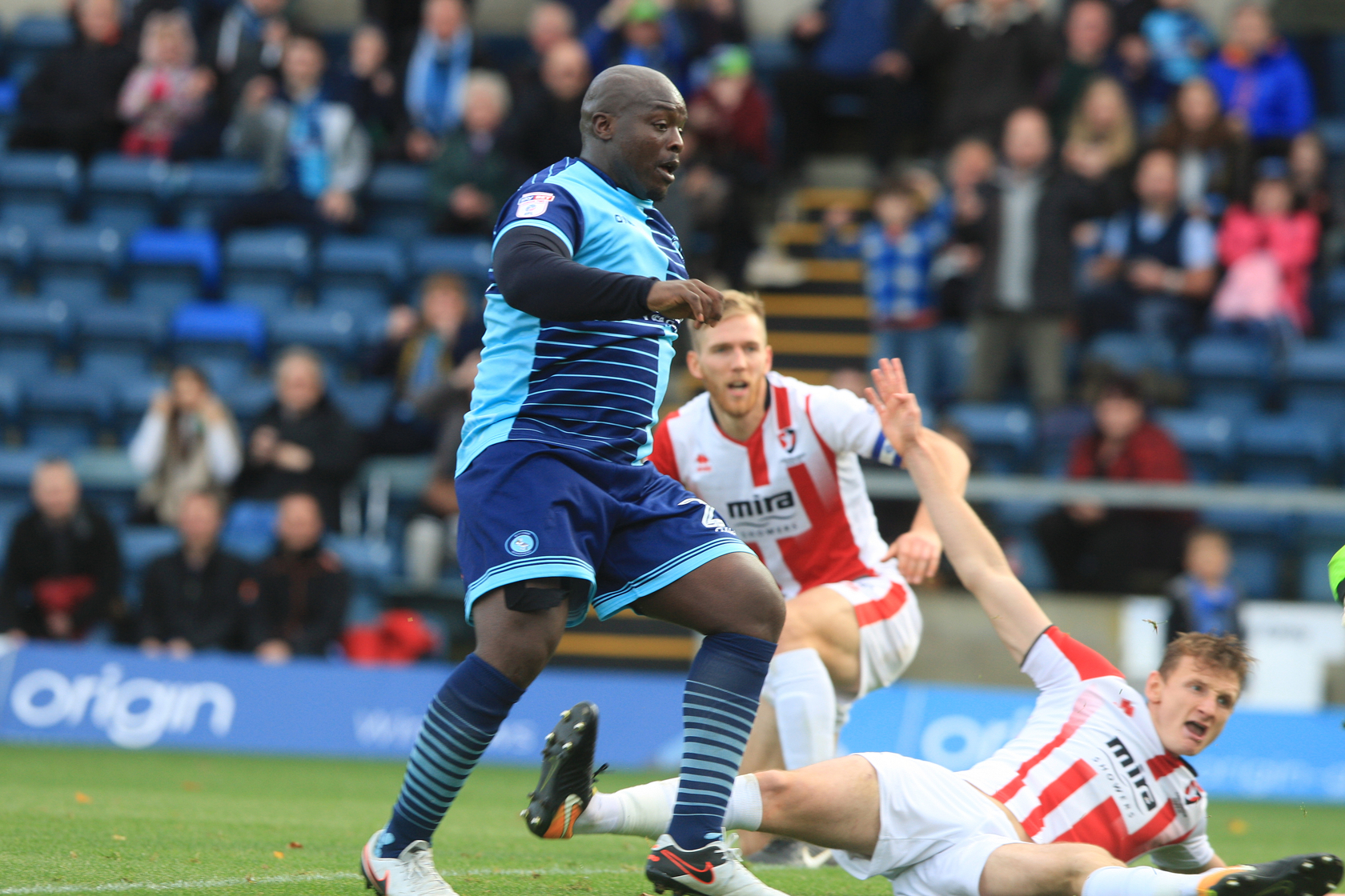 Akinfenwa has got 10 goals and six assists so far this campaign