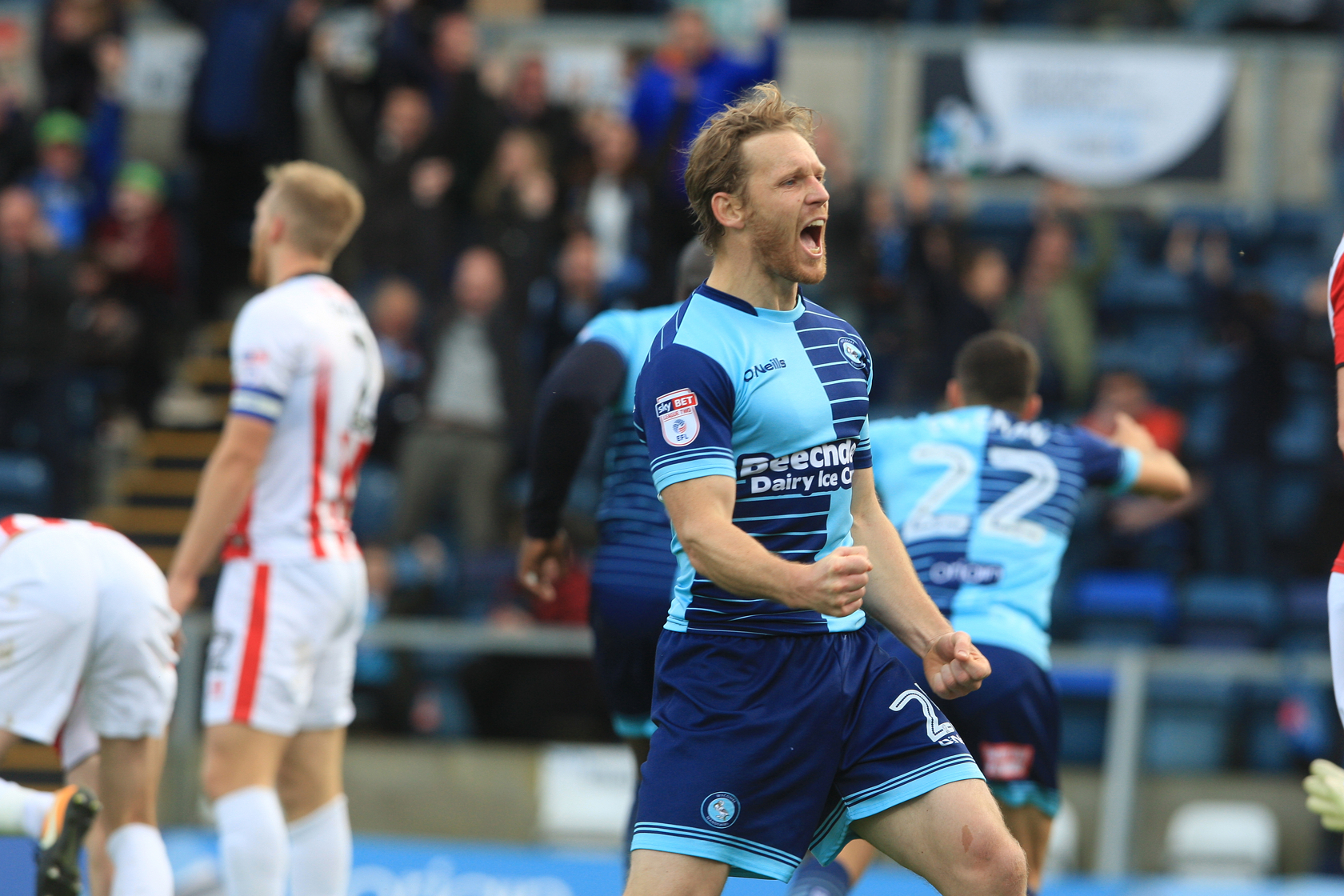 Mackail-Smith scored the all important second goal at against Leatherhead
