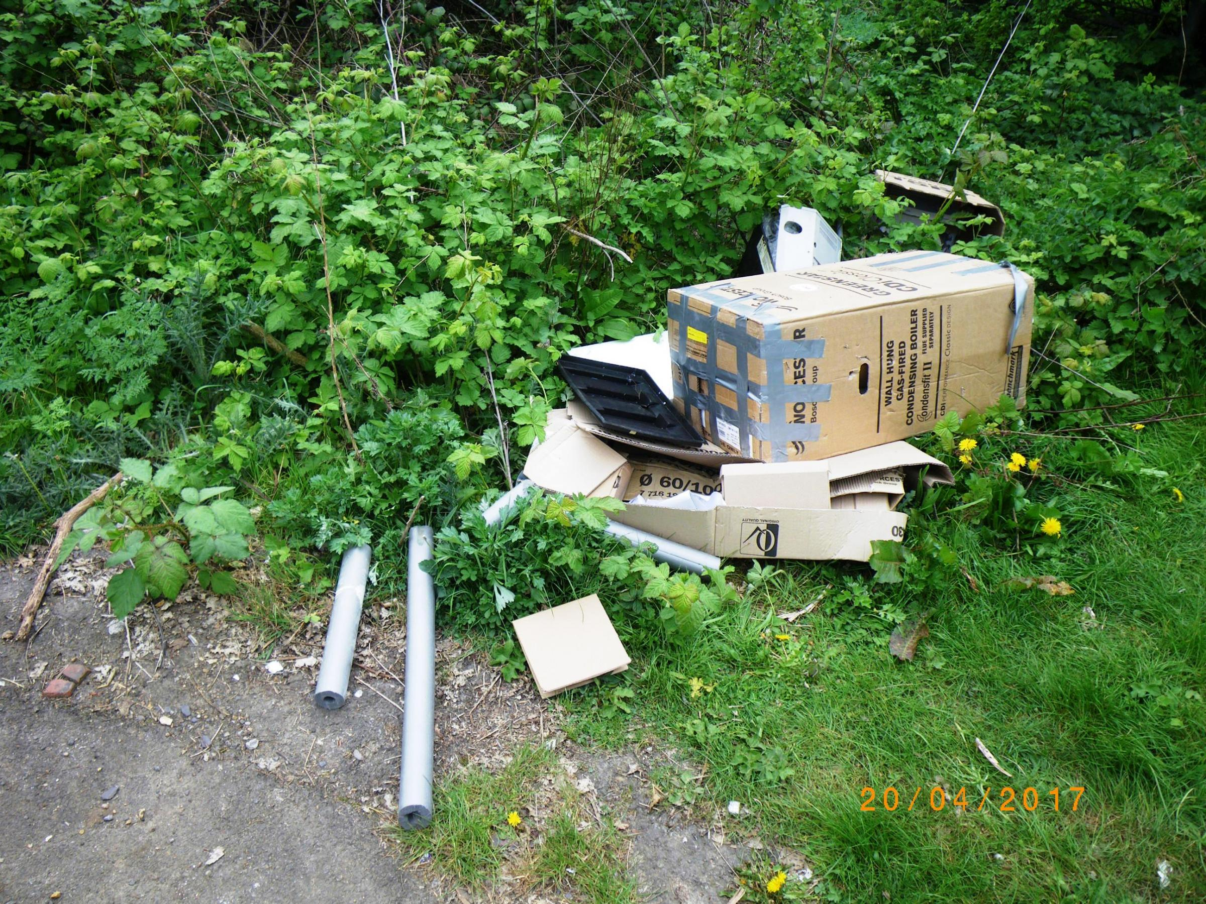 REVEALED: Councils spent more than £100k cleaning up fly-tipped rubbish