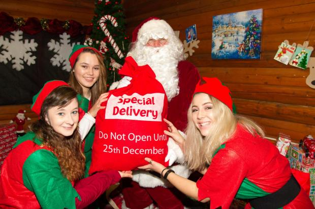 Father Christmas will be at the garden centre on November 17