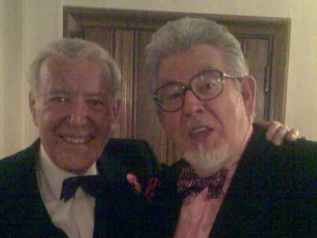 Old pals: Singer Val Doonican and artist Rolf Harris