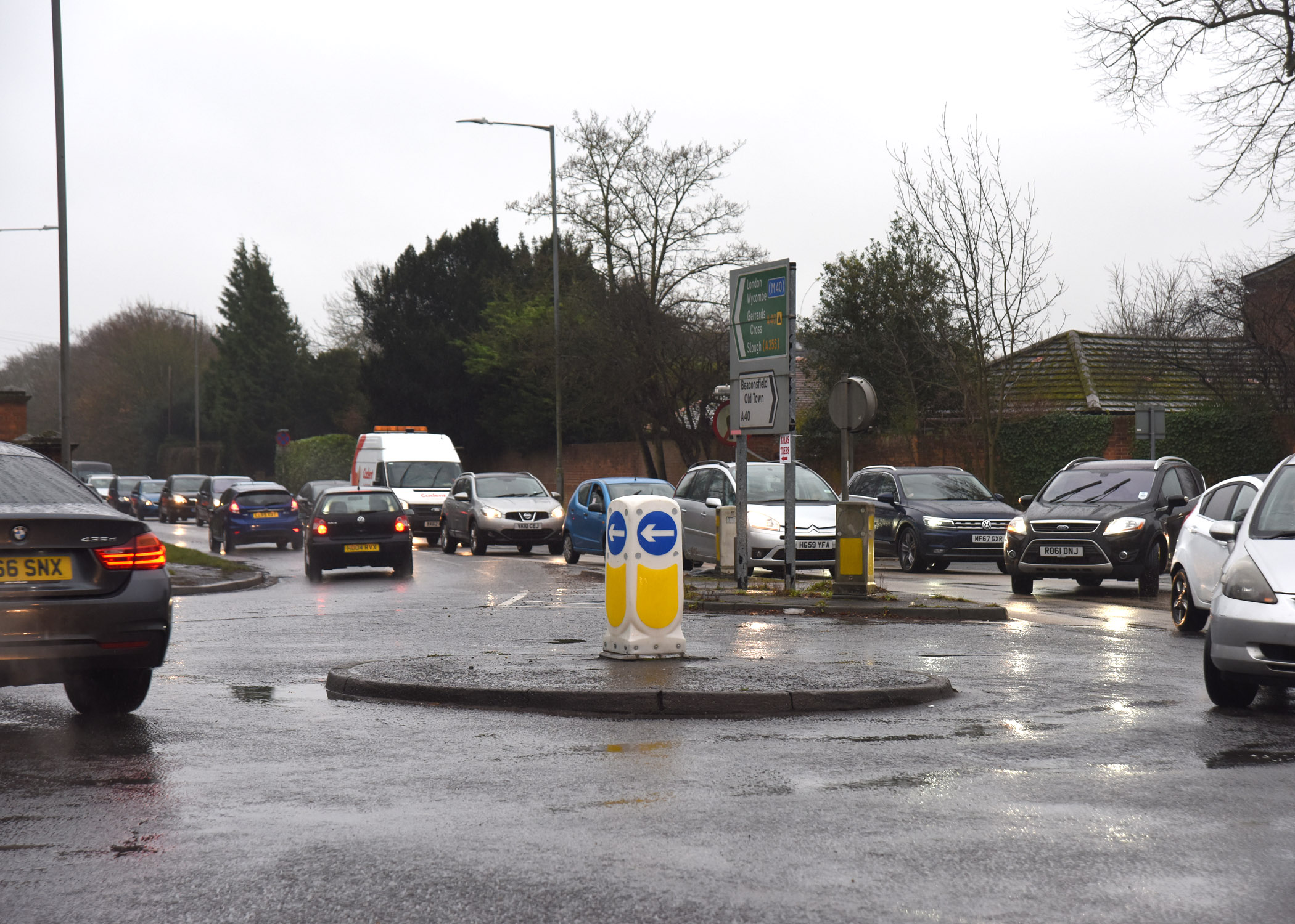 Drivers stuck in gridlocked traffic following crash