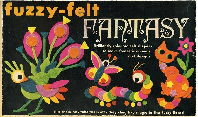 Image result for fuzzy felt 1970s