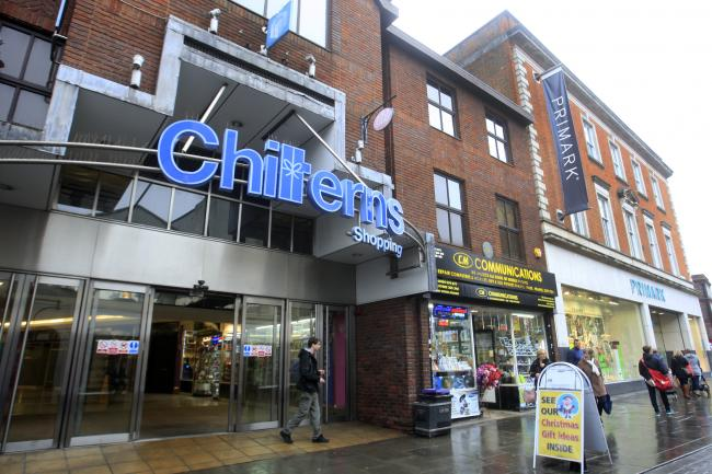 The incident happened at the Chilterns Shopping Centre (file photo)