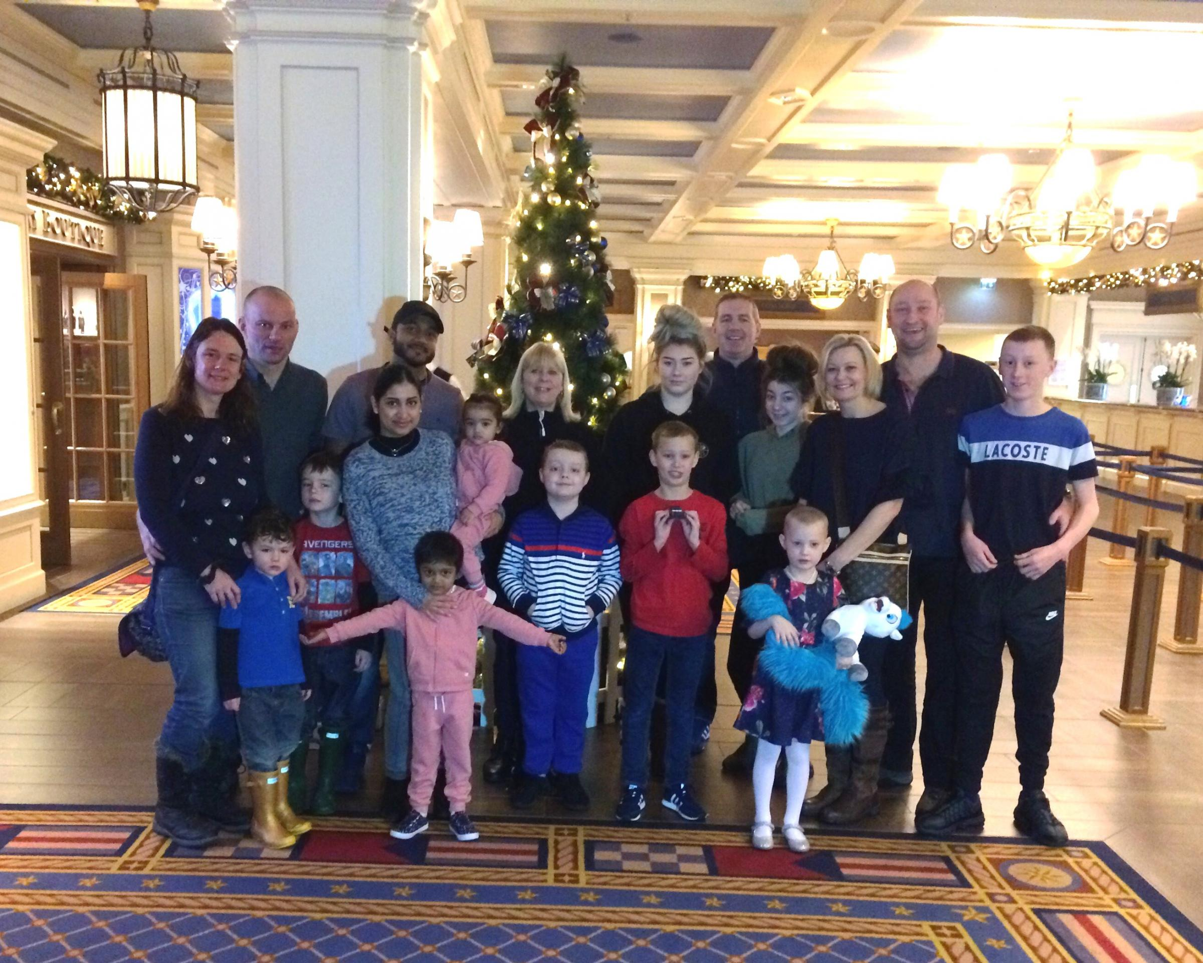 Christmas comes early for children with cancer at Disneyland Paris thanks to generous residents