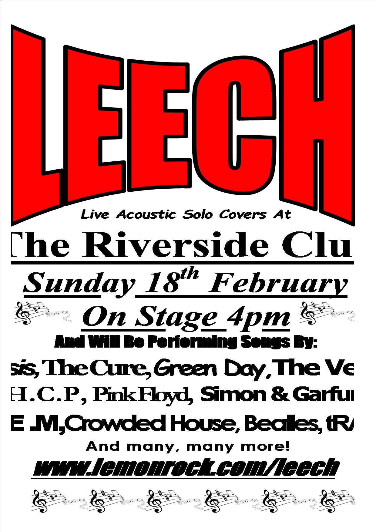 Leech Live Acoustic Solo Covers act