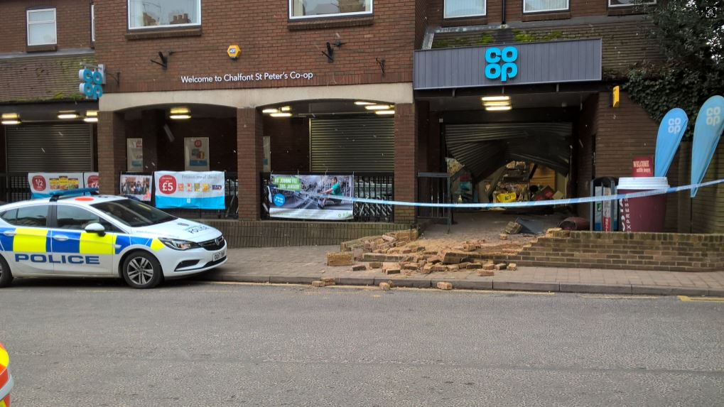 Two men charged in connection with 'ram-raid' at village supermarket