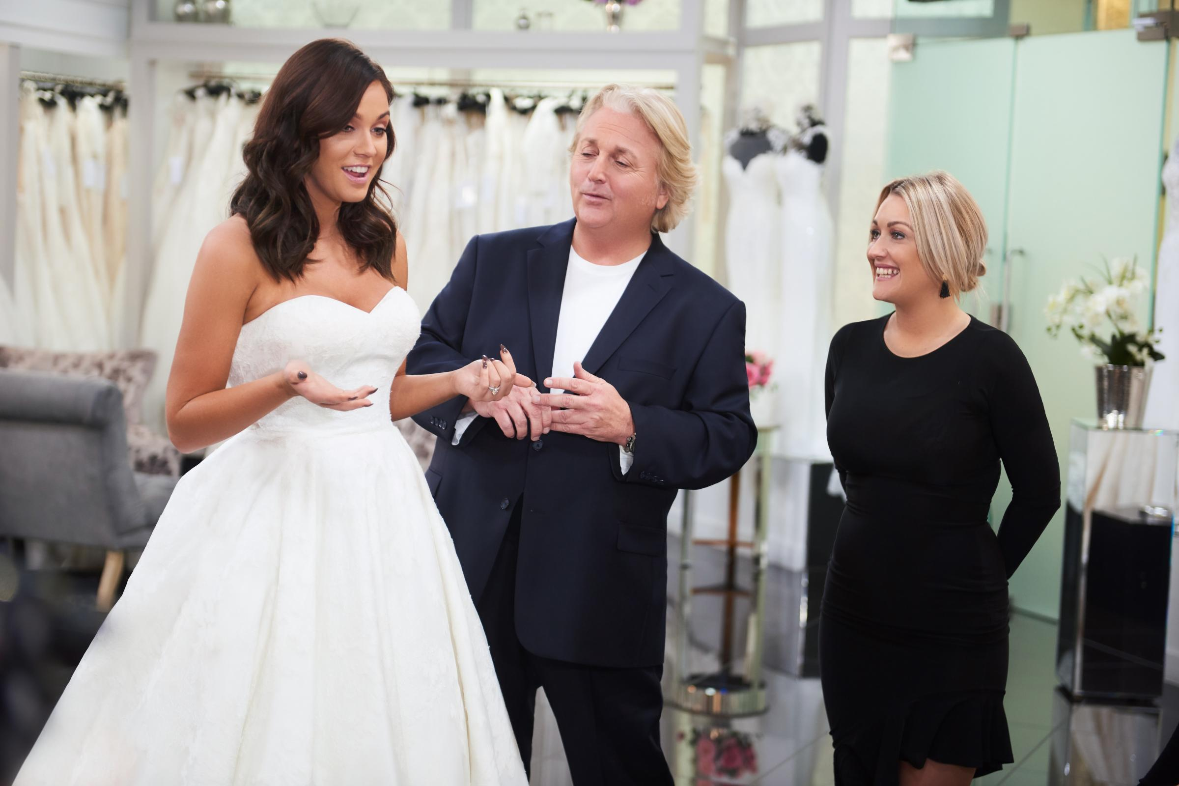 Vicky Pattison discovers what is 'too sexy' while wedding dress shopping (TLC)