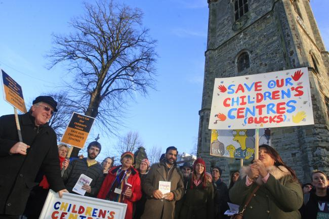 Campaigners fighting the closure of the children's centres