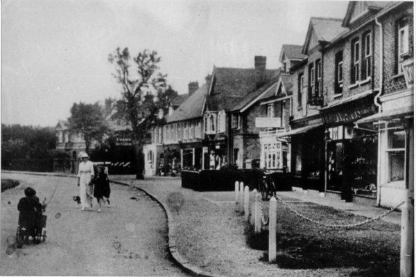 How times change: A row of shops line the southern side of The Parade, in Bourne End, in 1900. A variety of new supermarkets, restaurants and other shops can now be found in the area