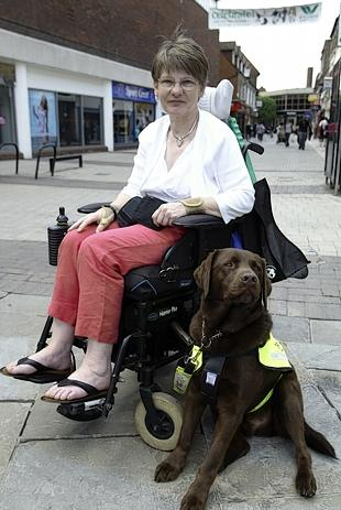 Disabled campaigner Alison Lewis