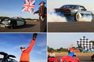 PICTURES: Exotic cars roar down the runway in unique charity event