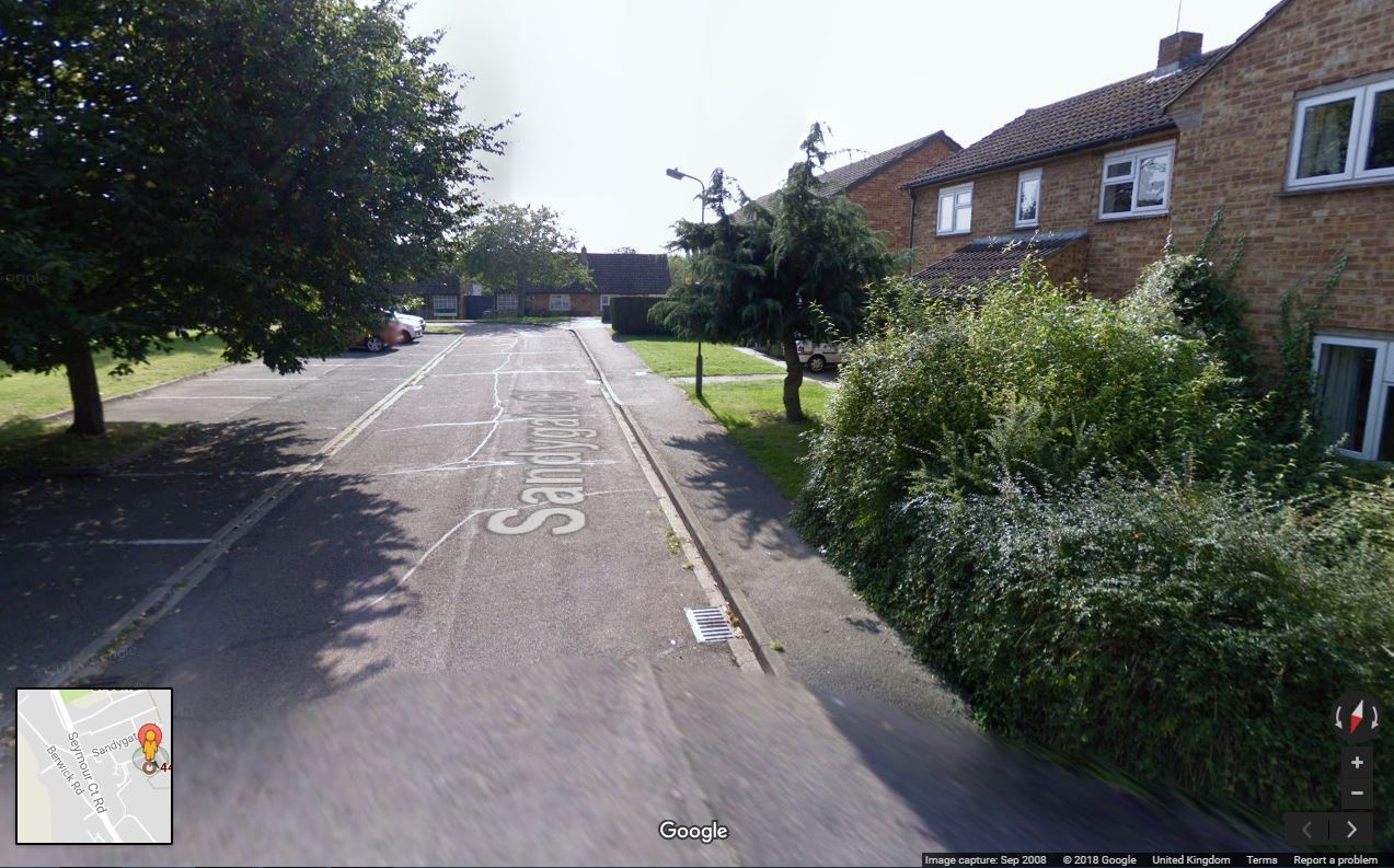 The man was found dead at Sandygate Close, in Marlow. Picture by Google