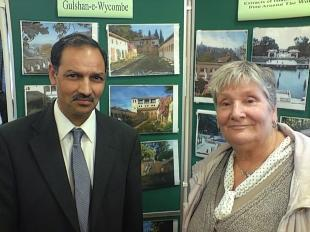 Councillor Mohammed Rafiq and Clare Martens at the launch of Gulchan-e-Wycombe today