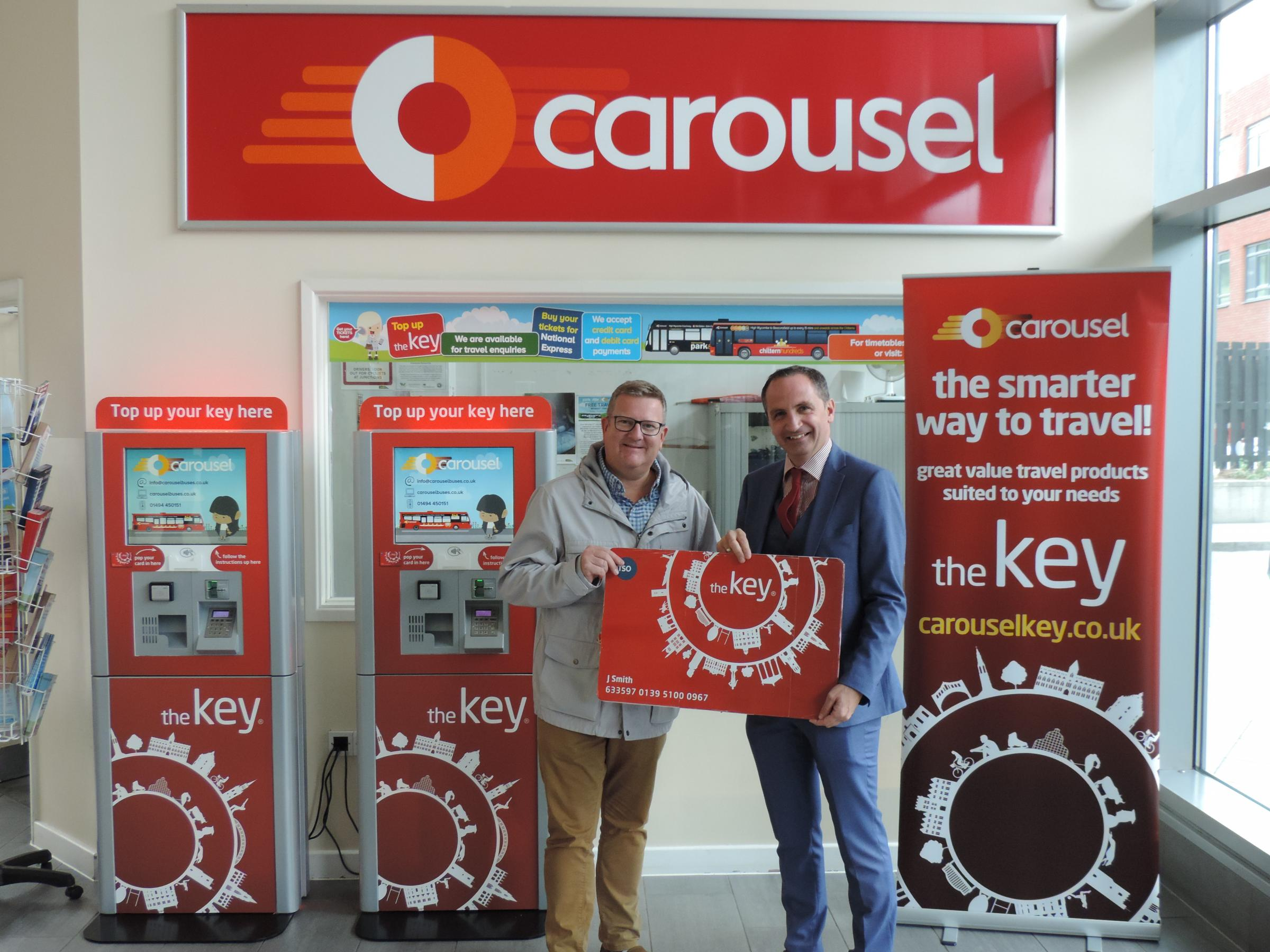 Phil Southall from Carousel with Cllr Mark Shaw
