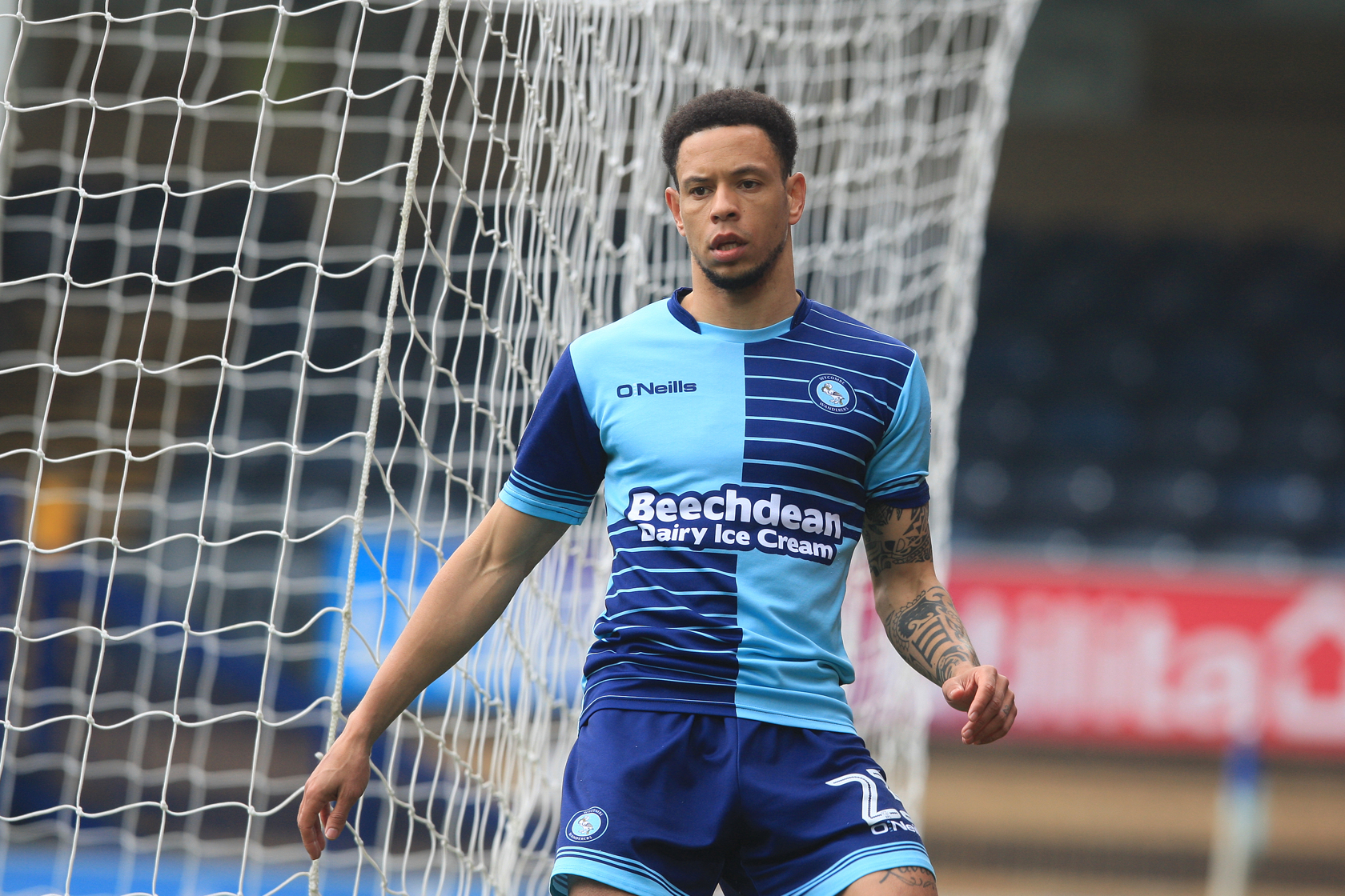 Nathan Tyson made his first start of the season against Shrewsbury