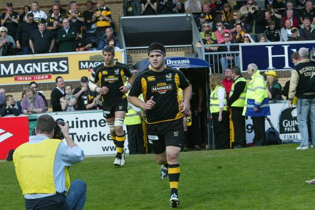 Bath's double try scorer Rob Webber during his Wasps days.