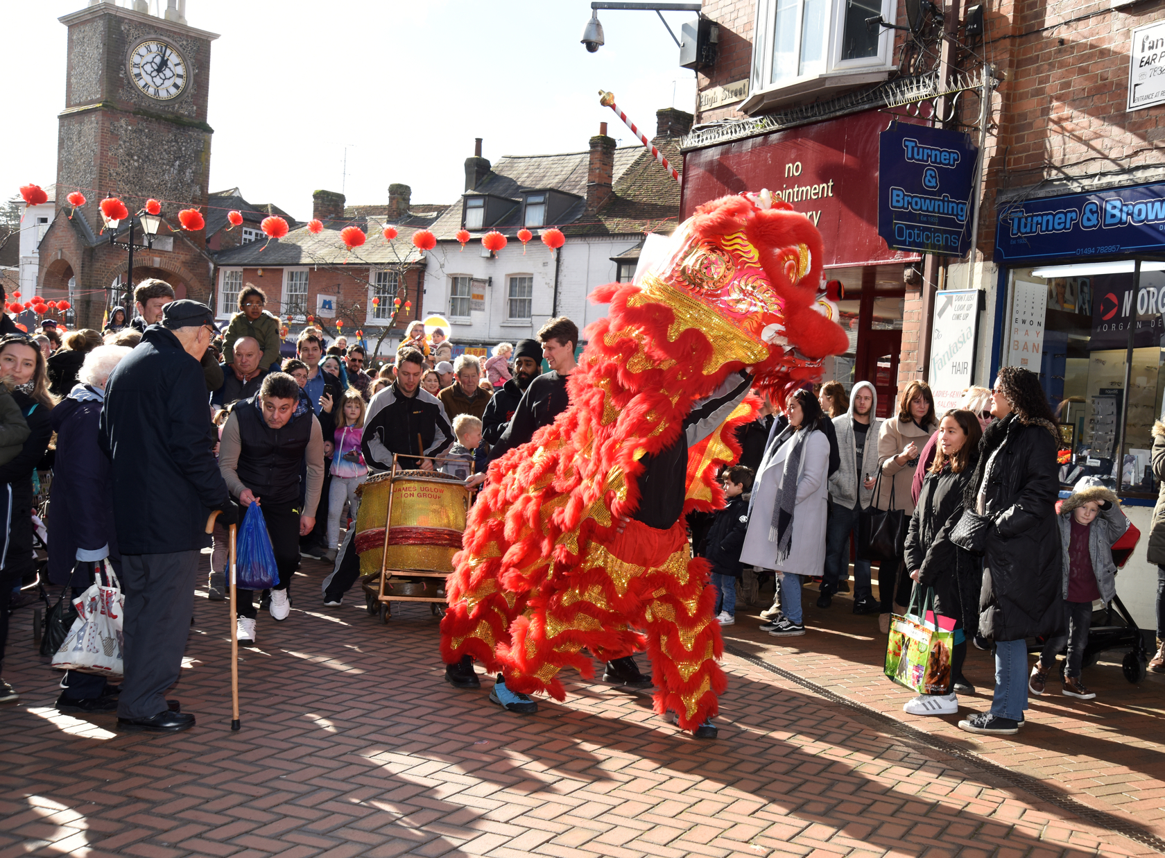 Chinatown comes to Chesham - 17.2.2018  by Ann Priest