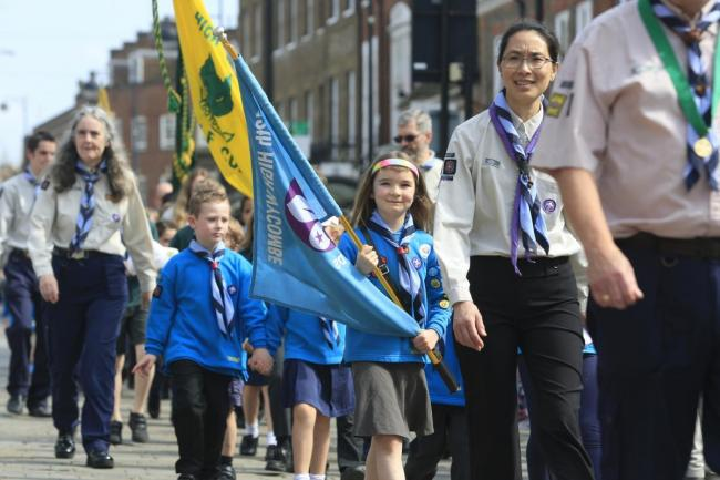 The scout parade in 2018 was a huge success
