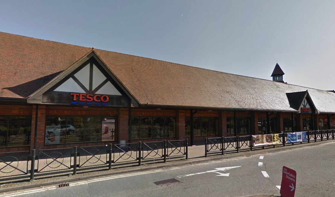 The Tesco store in London Road, Amersham (Photo credit: Google)