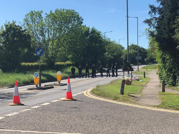 Bucks Free Press: Police on the closed road
