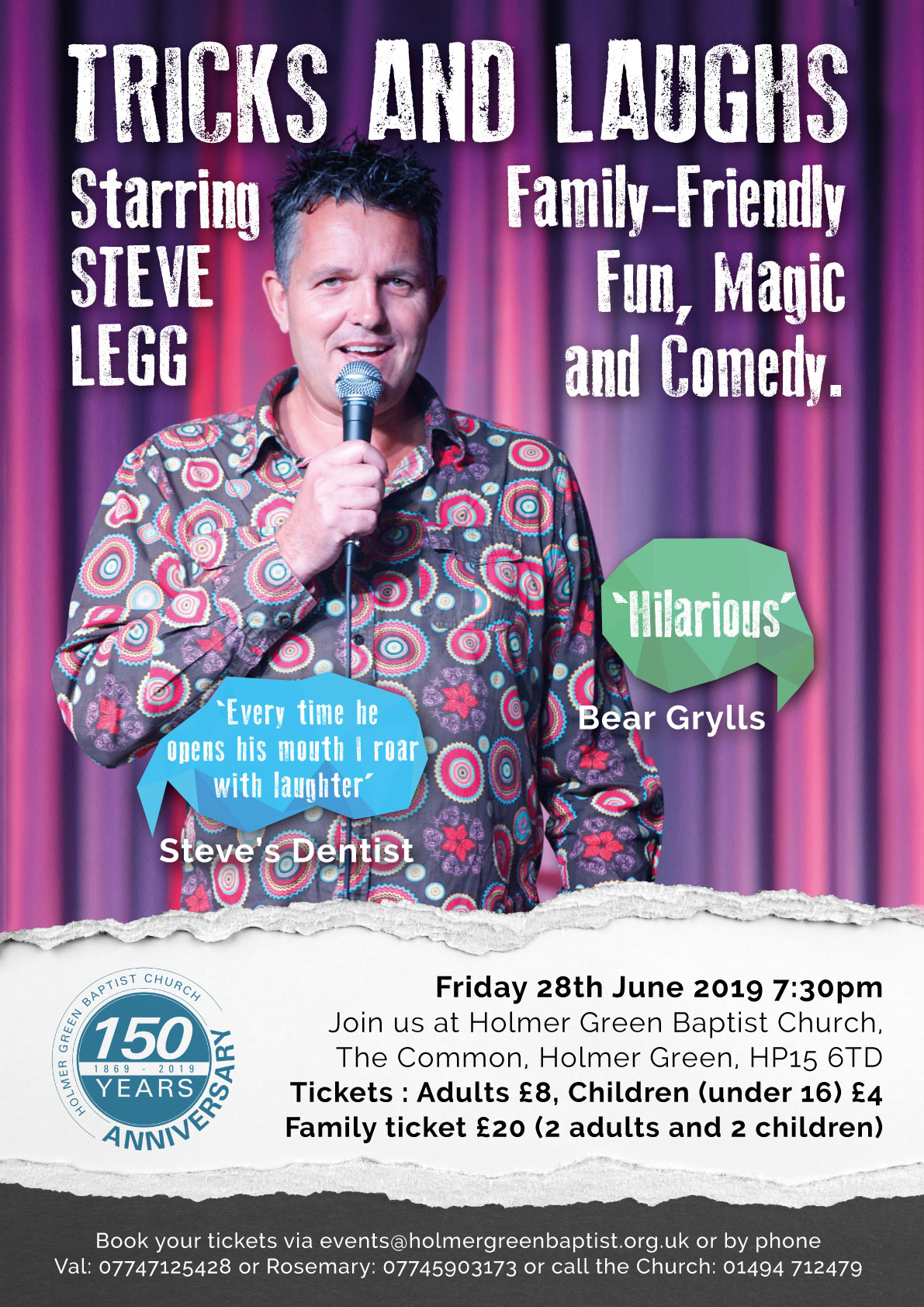 Tricks and Laughs starring Steve Legg