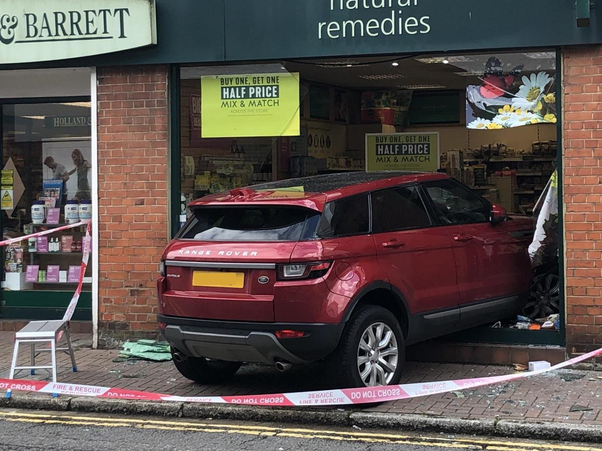 Range Rover smashes into Holland and Barrett in Gerrards Cross